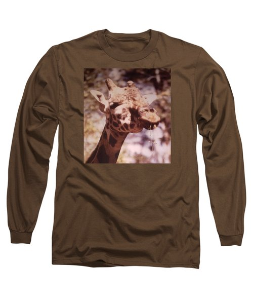 Long Sleeve T-Shirt featuring the photograph Velvety Giraffe by Belinda Lee