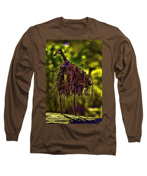Long Sleeve T-Shirt featuring the photograph Heron Totem by Gary Holmes