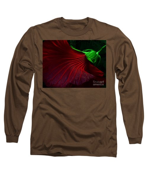 Hibiscus Red Long Sleeve T-Shirt
