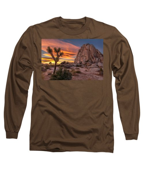 Hidden Valley Rock - Joshua Tree Long Sleeve T-Shirt by Peter Tellone