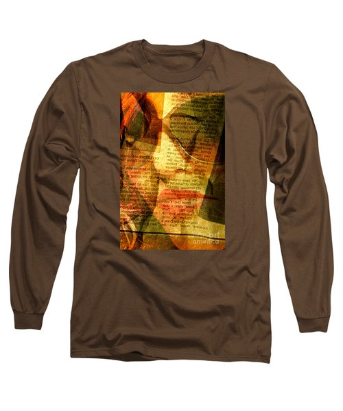Hiding From The News Long Sleeve T-Shirt by Michael Cinnamond