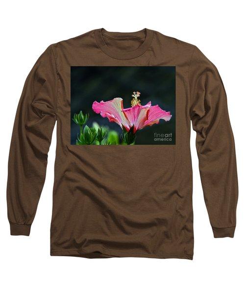High Speed Hibiscus Flower Long Sleeve T-Shirt