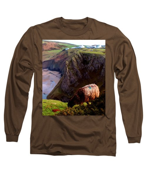 Long Sleeve T-Shirt featuring the digital art High Table by Ron Harpham