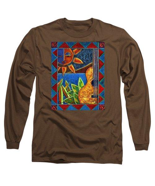 Hispanic Heritage Long Sleeve T-Shirt by Oscar Ortiz