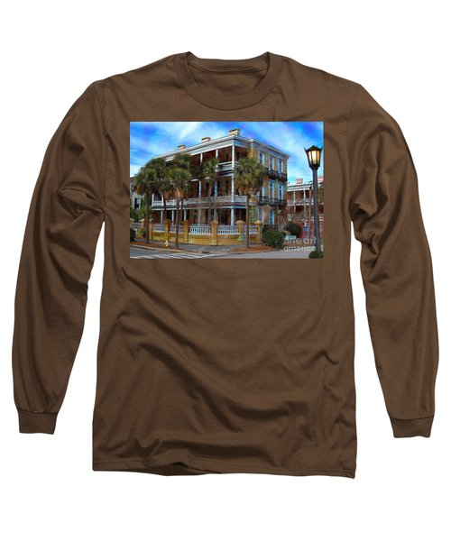 Long Sleeve T-Shirt featuring the photograph Historic Charleston Mansion by Kathy Baccari