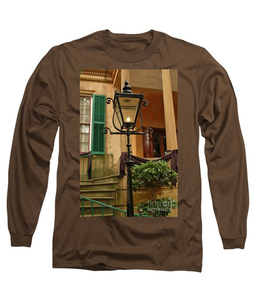 Historical Gas Light Long Sleeve T-Shirt by Patrick Shupert