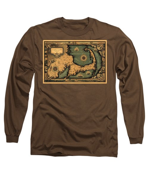 Historical Map Of Cape Cod Long Sleeve T-Shirt