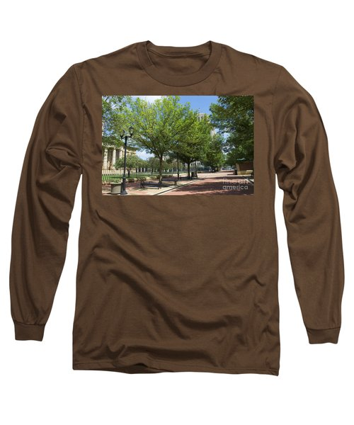History -  Lincoln Square Springfield Il - Luther Fine Art Long Sleeve T-Shirt by Luther Fine Art