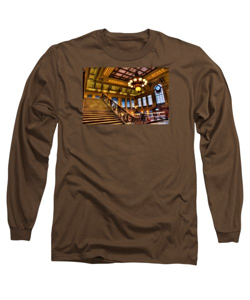 Hoboken Terminal Long Sleeve T-Shirt by Anthony Sacco