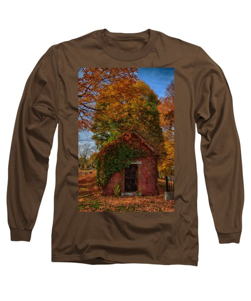 Long Sleeve T-Shirt featuring the photograph Holding Up The  Fall Colors by Jeff Folger