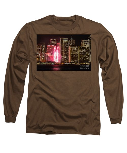 Holiday Lights Long Sleeve T-Shirt by Kate Brown