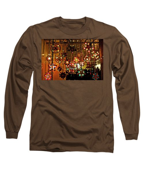 Long Sleeve T-Shirt featuring the photograph Holiday Lights by Suzanne Stout