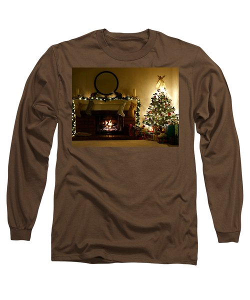 Home For The Holidays Long Sleeve T-Shirt by Ellen Henneke