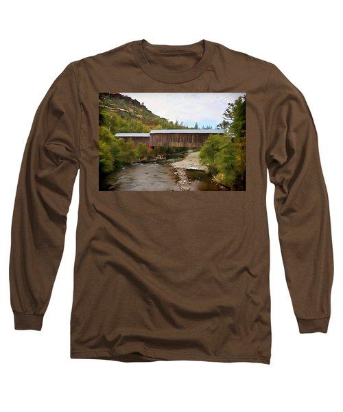 Honey Run Covered Bridge Long Sleeve T-Shirt