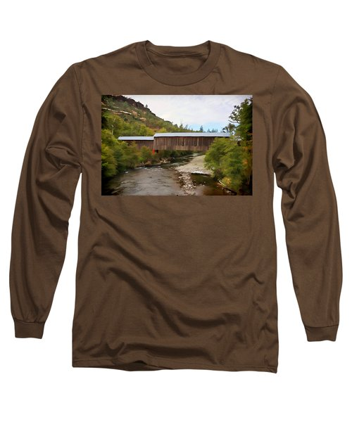 Honey Run Covered Bridge Long Sleeve T-Shirt