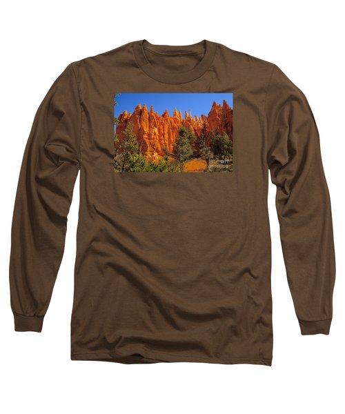 Hoodoos Along The Trail Long Sleeve T-Shirt by Robert Bales