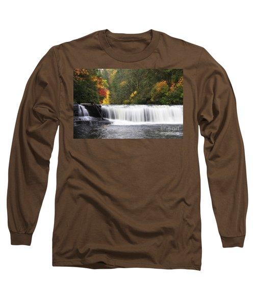 Hooker Falls In North Carolina Long Sleeve T-Shirt