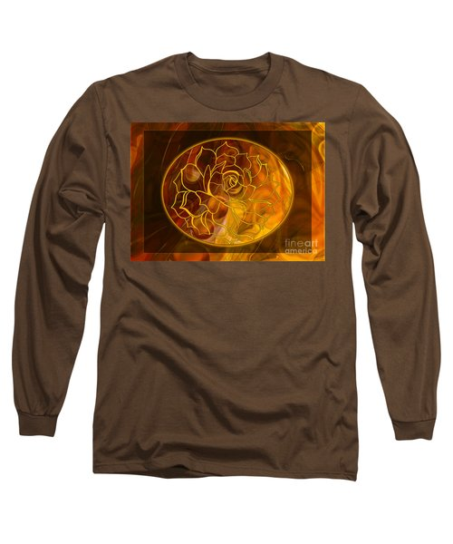 Long Sleeve T-Shirt featuring the digital art Hope Springs Eternal Abstract Healing Art by Omaste Witkowski
