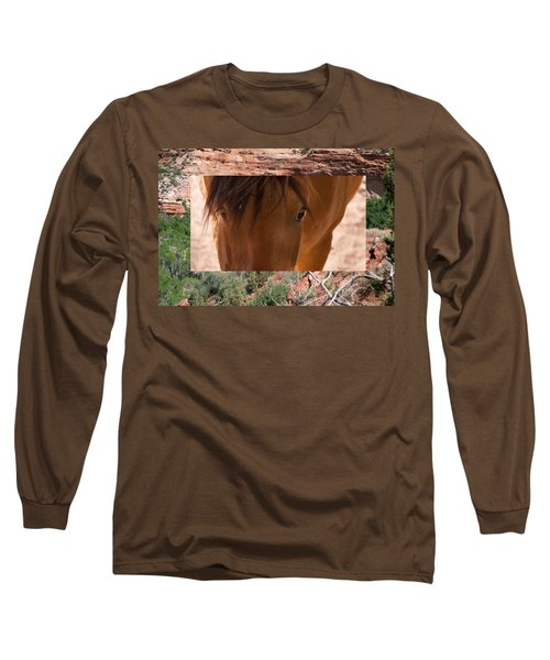 Horse And Canyon Long Sleeve T-Shirt