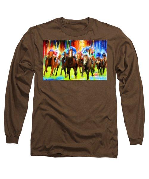 Horse Racing Long Sleeve T-Shirt