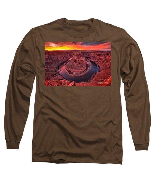 Horseshoe Bend Sunset Long Sleeve T-Shirt
