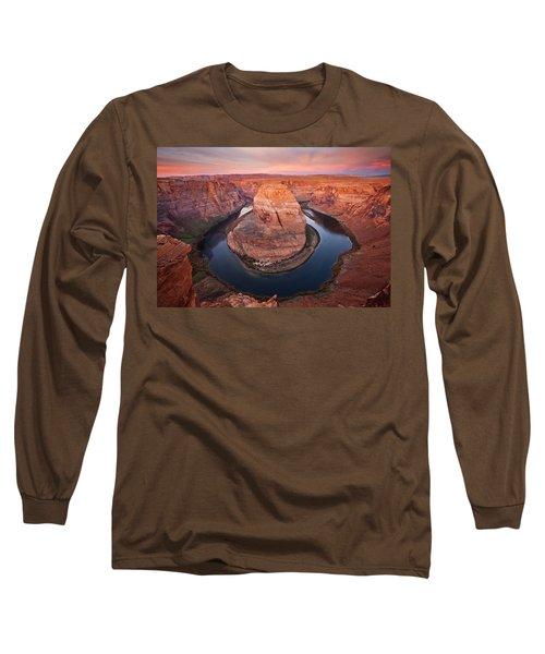 Horseshoe Dawn Long Sleeve T-Shirt by Mike  Dawson