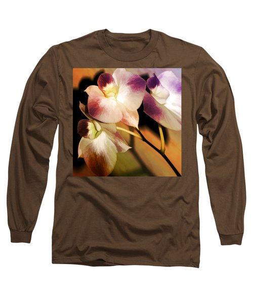 Long Sleeve T-Shirt featuring the photograph Hot Orchid Nights by Holly Kempe