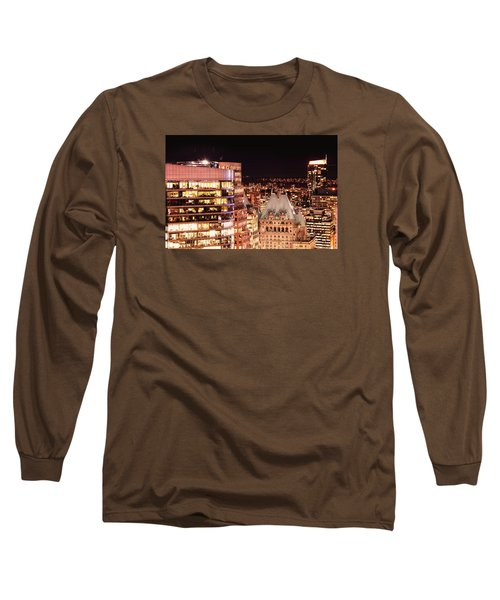 Long Sleeve T-Shirt featuring the photograph Hotel Vancouver And Wall Center Mdccv by Amyn Nasser