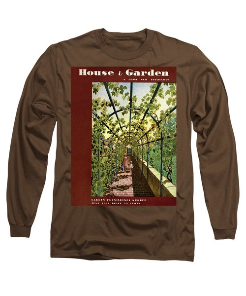 House & Garden Cover Illustration Of Young Girls Long Sleeve T-Shirt