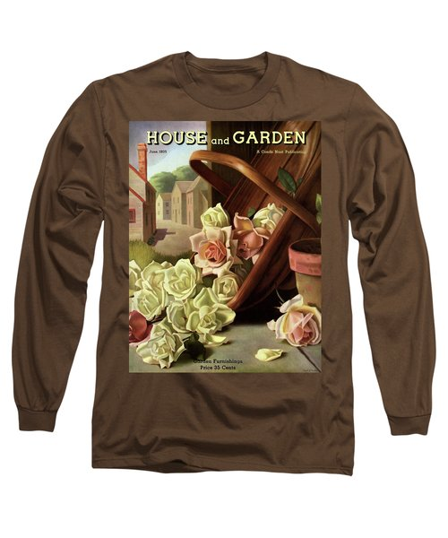 House And Garden Cover Of An Upturned Basket Long Sleeve T-Shirt