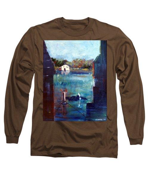 Houseboat Shadows Long Sleeve T-Shirt