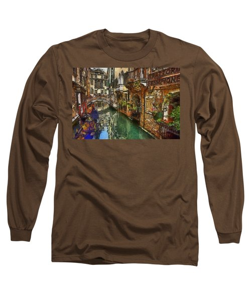 Houses In Venice Italy Long Sleeve T-Shirt
