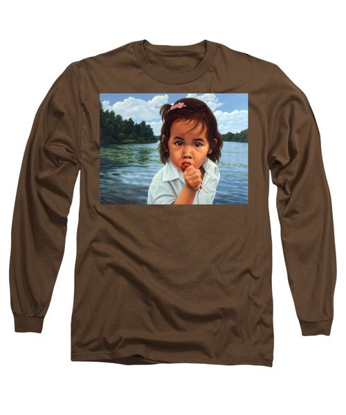 Long Sleeve T-Shirt featuring the painting Human-nature 48 by James W Johnson