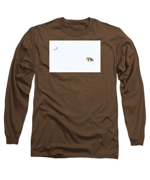 Long Sleeve T-Shirt featuring the photograph Hunting In White by Yeates Photography