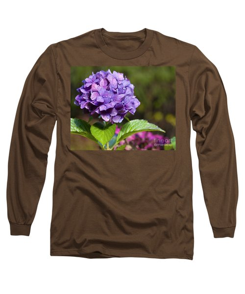 Hydrangea Long Sleeve T-Shirt by Belinda Greb