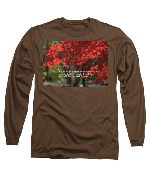 Long Sleeve T-Shirt featuring the photograph I Honor The Essence Of Who I Am by Patrice Zinck