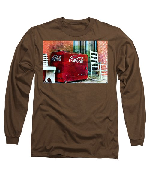 Ice Cold Coca Cola Long Sleeve T-Shirt by Benanne Stiens