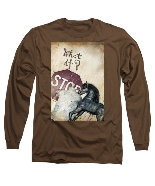 If What? Long Sleeve T-Shirt by Caitlyn  Grasso