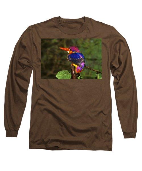 India Three Toed Kingfisher Long Sleeve T-Shirt