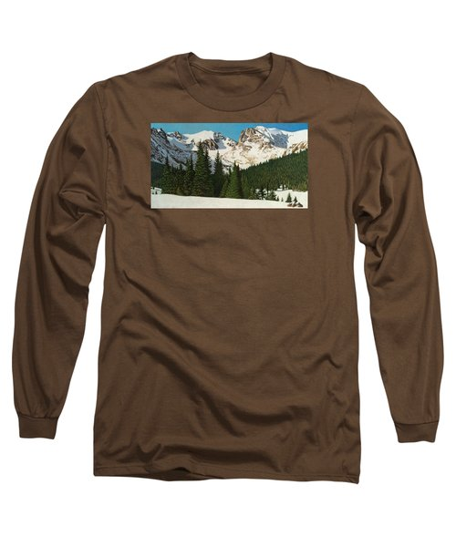 Indian Peaks Winter Long Sleeve T-Shirt by Dan Miller
