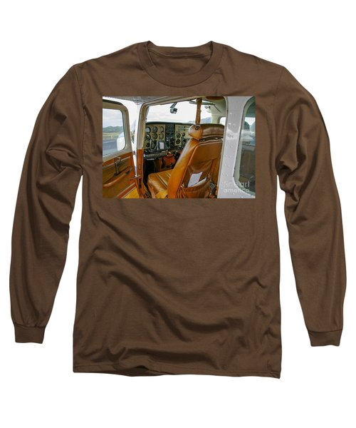 inside a small Cesna Long Sleeve T-Shirt by Patricia Hofmeester