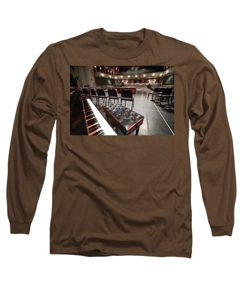 Long Sleeve T-Shirt featuring the photograph Inside Theater by Alex Grichenko