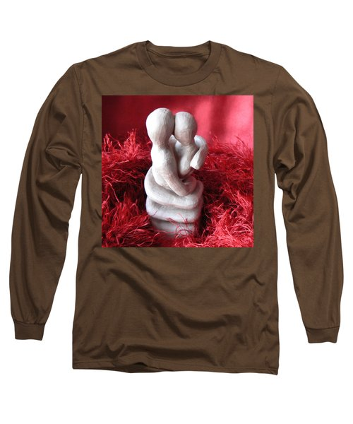 Long Sleeve T-Shirt featuring the sculpture Intertwined by Barbara St Jean