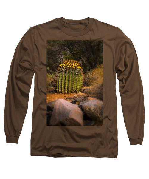 Long Sleeve T-Shirt featuring the photograph Into The Prickly Barrel by Mark Myhaver