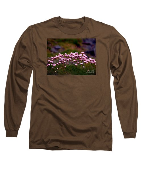 Irish Sea Pinks Long Sleeve T-Shirt by Patricia Griffin Brett