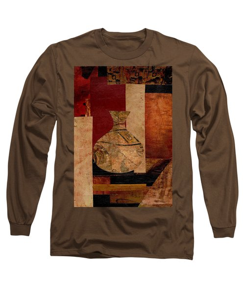 Long Sleeve T-Shirt featuring the mixed media Italian Urn Collage by Patricia Cleasby