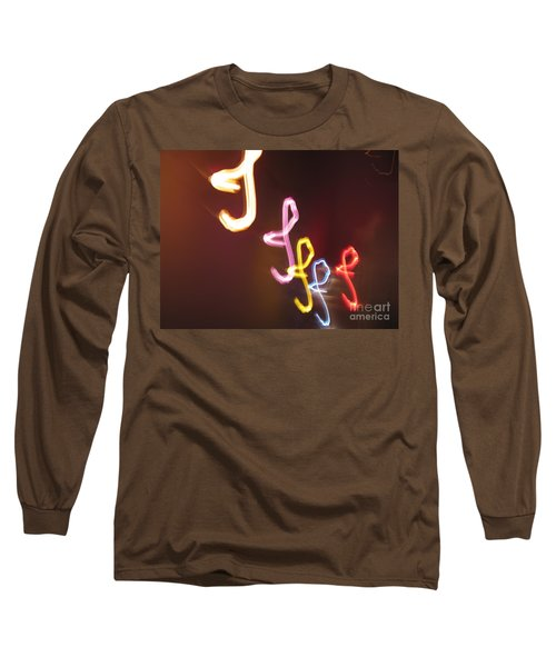 Long Sleeve T-Shirt featuring the photograph It's I... I... And More Of I. Dancing Lights Series by Ausra Huntington nee Paulauskaite