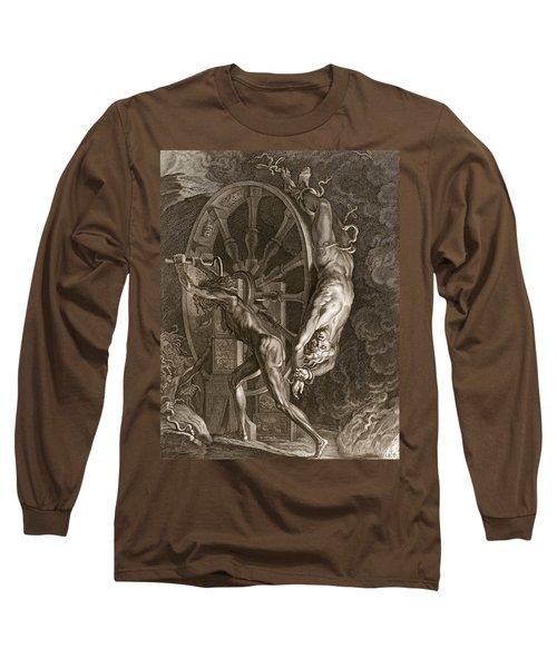 Ixion In Tartarus On The Wheel, 1731 Long Sleeve T-Shirt by Bernard Picart