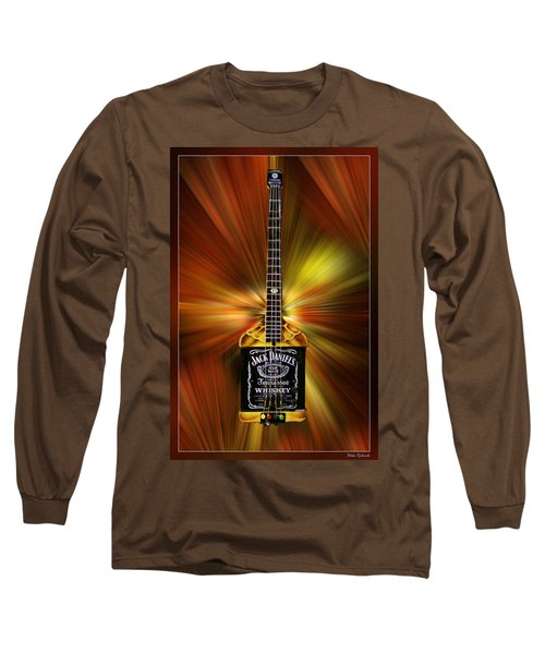 Jack Daniels Whiskey Guitar Long Sleeve T-Shirt