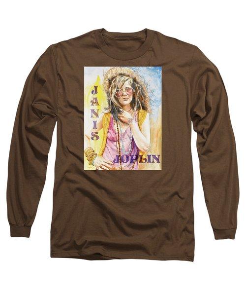 Janis Joplin Painted Poster Long Sleeve T-Shirt